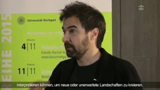 November Reihe 2015 in Stuttgart | Interview mit Fabrizio Barozzi | #Sto-Stiftung #NovemberReihe