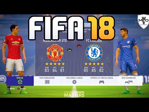 FIFA 18 - Manchester United vs FC Chelsea Full Gameplay (Xbox One, PS4, PC)