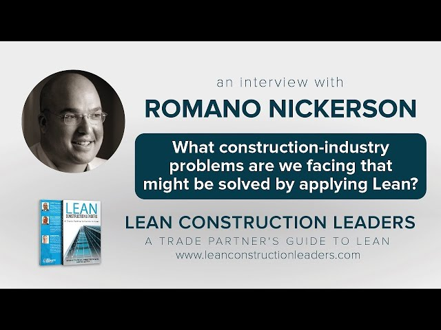 What construction-industry problems are we facing that might be solved by applying Lean?
