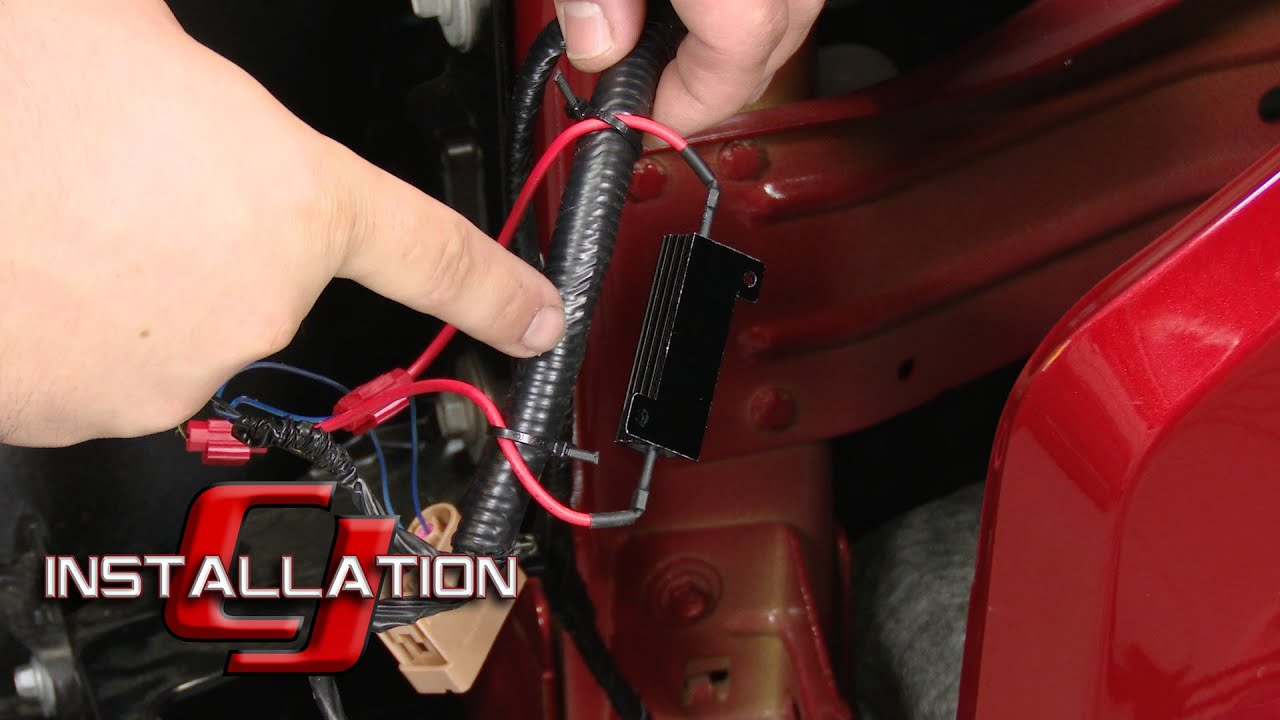 2016 ford f150 headlight wiring diagram 2 wire thermostat led turn signal resistor kit installation youtube