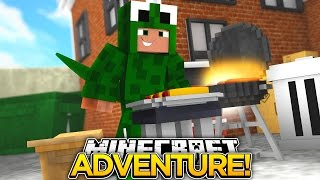 Minecraft Adventure : LITTLE LIZARD THROWS A BIG BBQ PARTY!