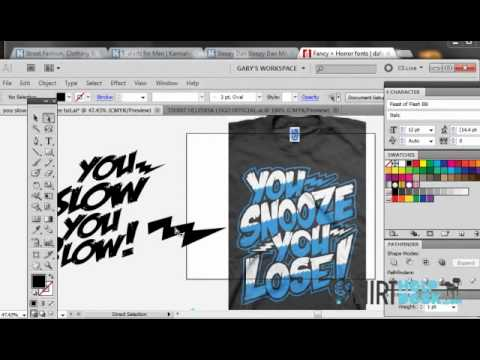 Using Fonts To Make Awesome T Shirt Designs Illustrator