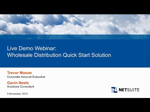 Live Product Demo: NetSuite QuickStart for Wholesale Distrib