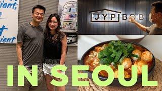 Vlog: JYP Entertainment Tour with JYP, Rice paper ddeokbokki, New hair