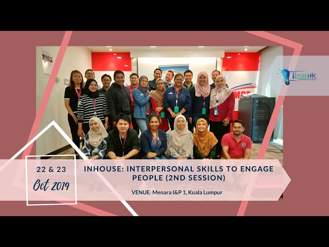 19, Oct 22 | In-House For Interpersonal Skills to Engage People (2nd Session)