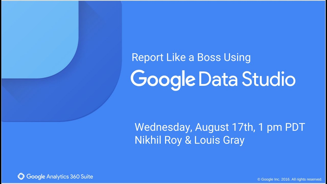Create Reports with Google Data Studio