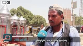 شاهد| بالعرقسوس والتمر.. عم محمد ملاذ
