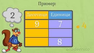 Умножение на двуцифрено число с преминаване - Математика 3 клас | academico