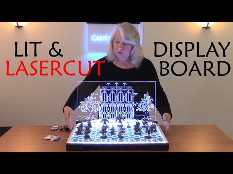 How to Design and Lasercut a Lit Display Board for Wargaming Miniatures