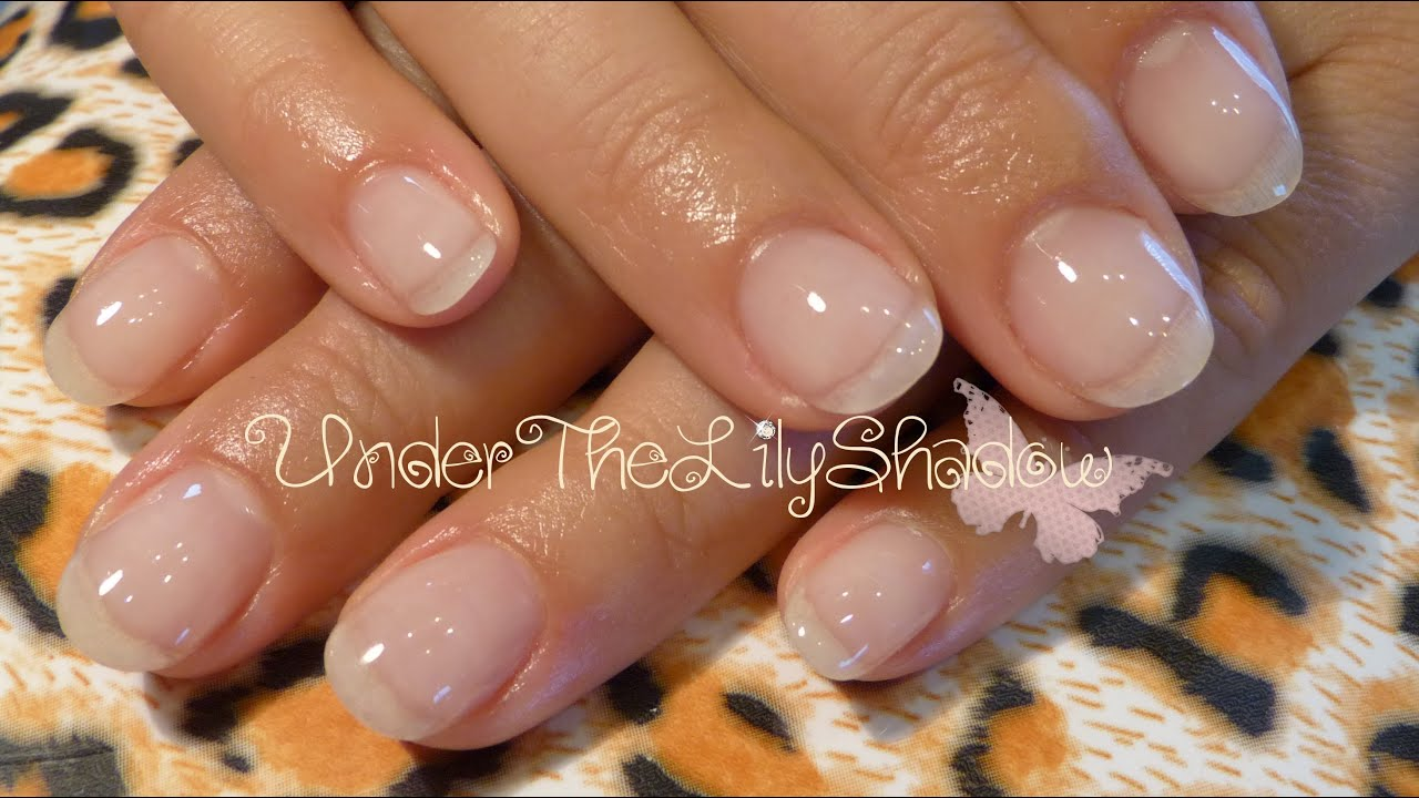 Natural Gel Nails - Gel Overlay - YouTube