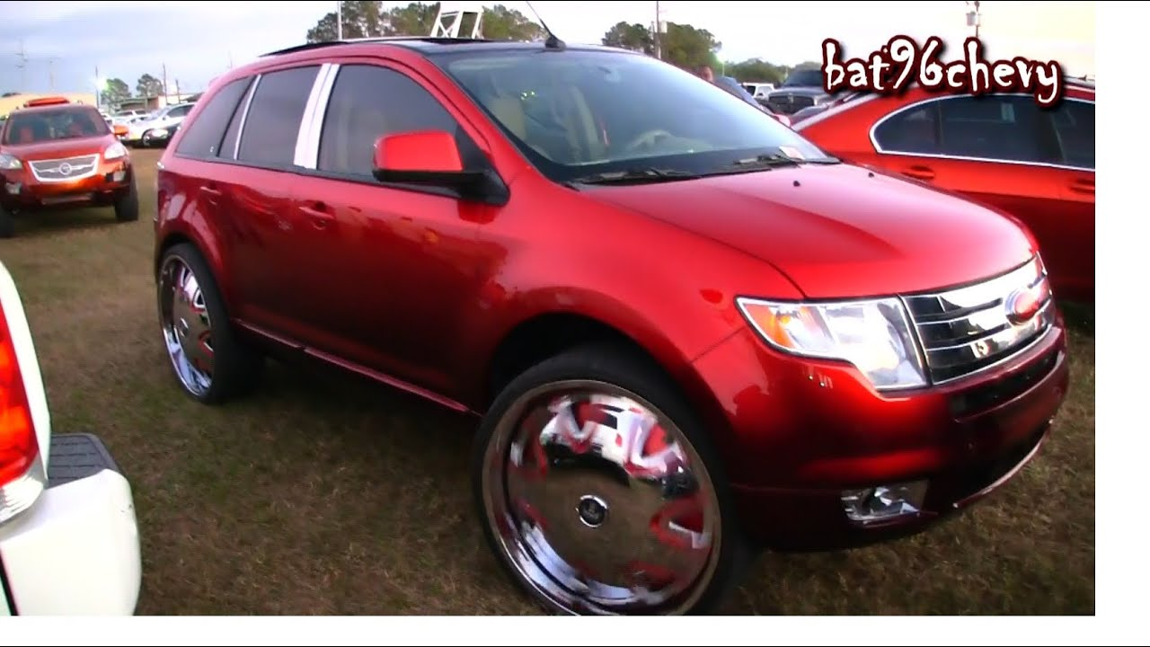 Candy Red Ford Edge on 28 DUB Banditos Floaters  1080p HD  YouTube