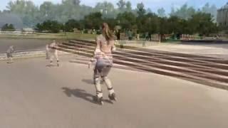 Роликовые коньки. Начальный Фрискейт на роликах. Занятие с Яной. Фрискейт База(, 2015-04-10T12:07:27.000Z)