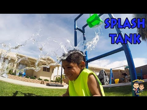 SPLASH TANK Hit With SOCCER BALL | Damian And Deion Get Soaked