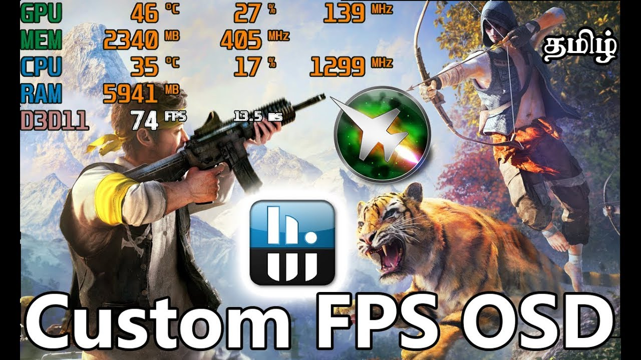 How To Monitor FPS,CPU,GPU And RAM Usage On Games | OSD | FPS Monitor