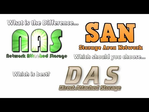 What is the Difference between NAS, SAN and DAS - Help you Choose which one is right for you?