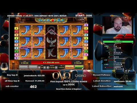LAST SPIN!! MAX BET!! BIG WIN FROM BOOK OF RA DELUXE!!