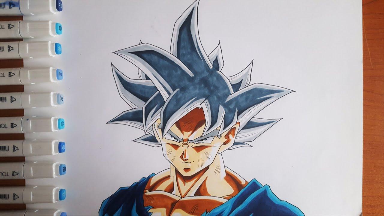 Come Disegnare Goku Ultra Istinto Tutorial Passo Passo Youtube