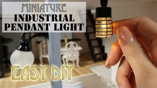 DIY Miniature Industrial Pendant Light