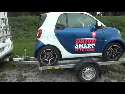 mini porte voiture id al camping car smart youtube. Black Bedroom Furniture Sets. Home Design Ideas