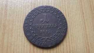 Old austrian coin - 1 Kreutzer 1812 in HD