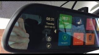 Junsun 7 Q6 AllWinner A33 - обзор автомобильного зеркала с камерой заднего вида