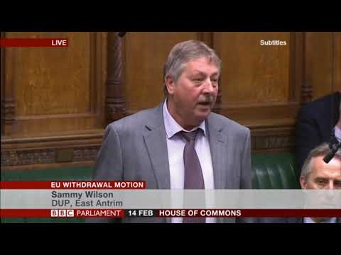 Sammy Wilson MP at the EU Withdrawal Motion Debate