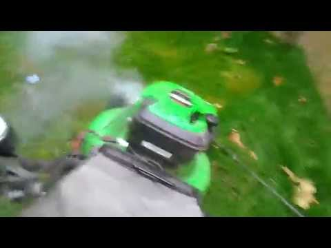 starting the blown lawnboy lawnmower engine