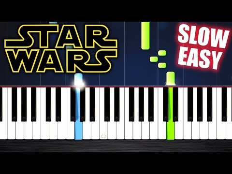 Star Wars - Main Theme - SLOW EASY Piano Tutorial by PlutaX