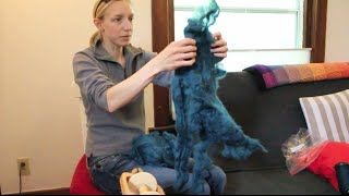 Melissa Spins: Spinning Fiber Mill Ends (Lap Waste) Wool Roving(In this video Melissa describes her approach to spinning fiber that is called lap waste or mill ends. This is fiber that is a waste product of spinning mills in the fiber ..., 2016-05-09T03:06:14.000Z)