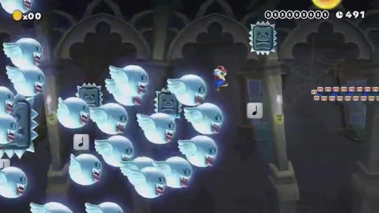 Super Mario Maker - Just Keep Running & Cap'n Big Dry Bones Gameplay  (Direct Feed - E3 2015)