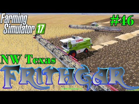 Let's Play Farming Simulator 2017, North West Texas #46: 885 Hectare Field!