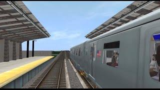 Trainz 12: R160 (D) Train (205 St - Far Rockaway) via Fulton St Exp {2010s}