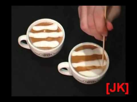 Cách vẽ Latte_cafe cappuccino