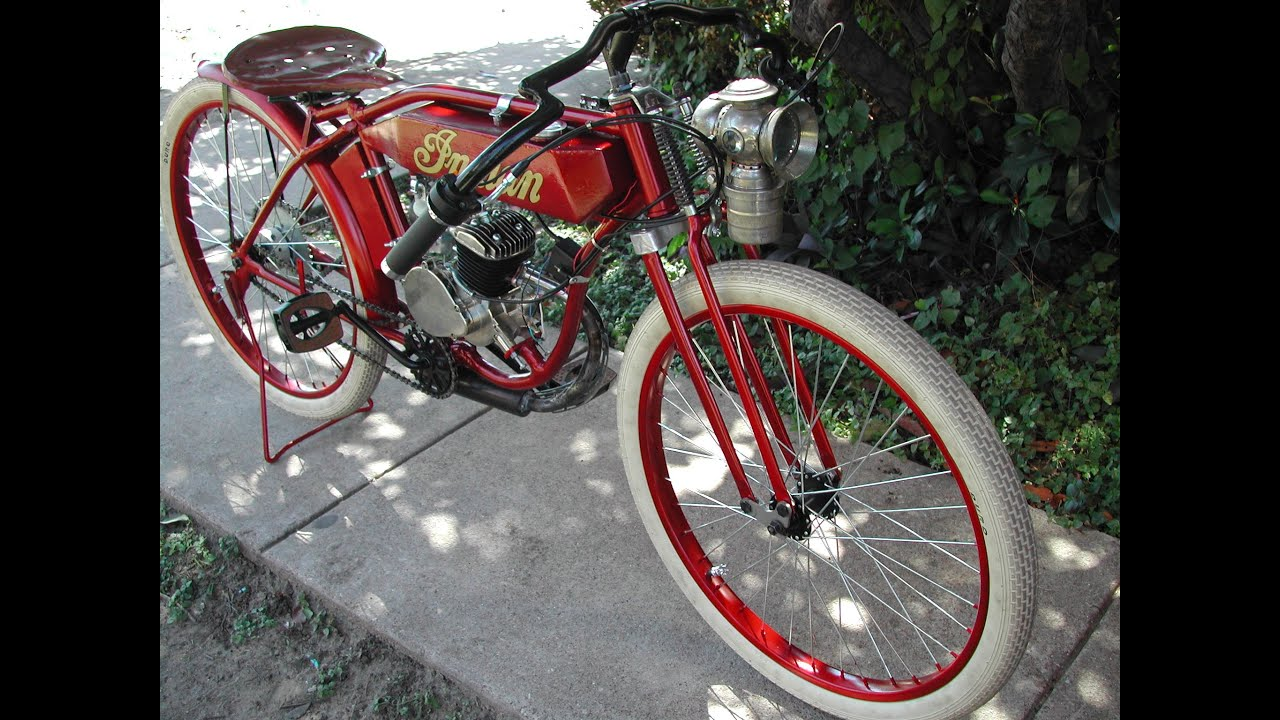 1914 Indian Board Track Racer Replica Motorised Bicycle