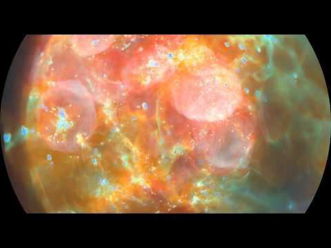 4K | Universe's Evolution in 8K Fulldome - Illustris Simulation