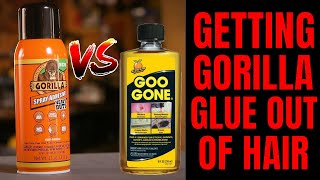 How to use G๐o Gone To Easily Remove Gorilla Glue From Hair And Skin | Dark Nook