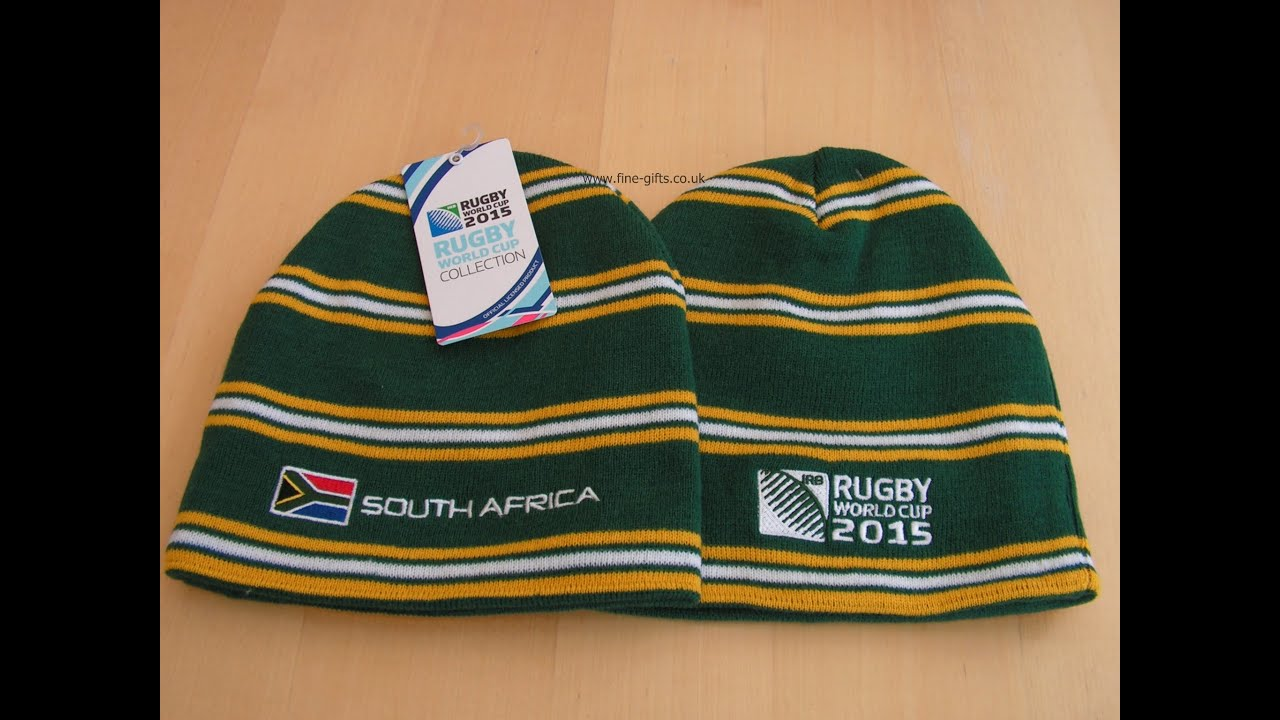 South Africa Rugby Beanie - 2015 Rugby World Cup - Official RWC 2015 Beanies e5c10fd941d