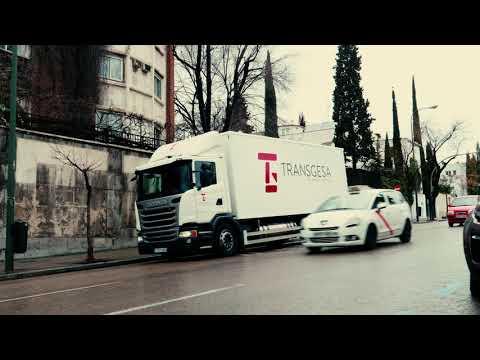 Scania gas truck helps keep air clean in Madrid