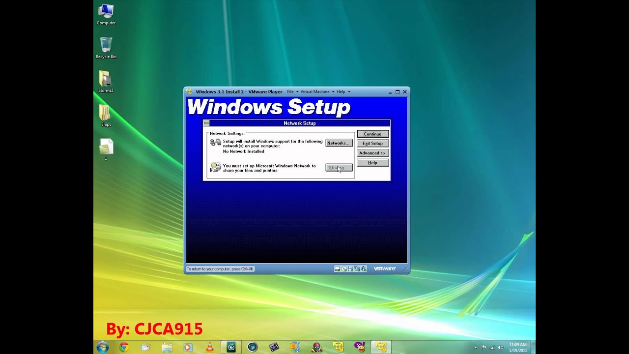 Install Windows 3.11 in VMware Player - YouTube