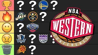 2019-20 NBA Western Conference Tier List Predictions