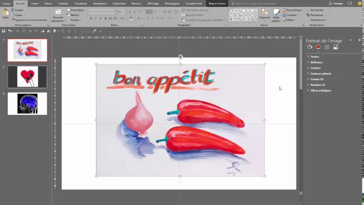 Powerpoint Outil Supprimer L Arriere Plan D Une Image Youtube