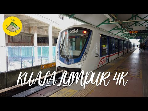 Kuala Lumpur 4k - Railway Transport in Kuala Lumpur - LRT Kelana Jaya Line Complete Route