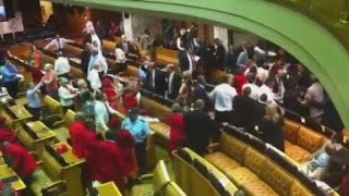 Brawl after MP calls Jacob Zuma a