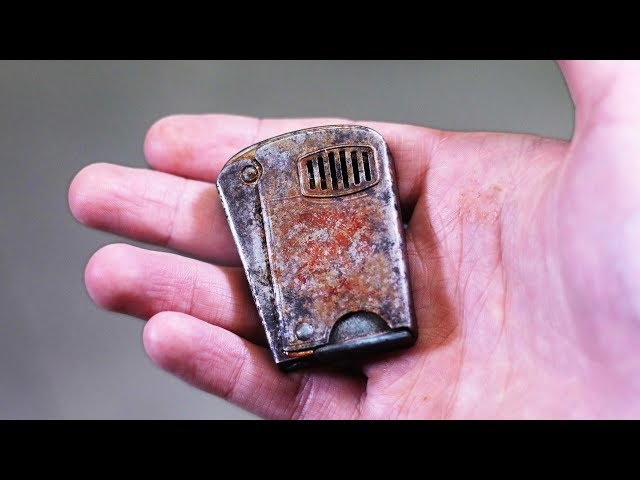 Old rusty squeeze lighter restoration. Got FOOLED on ebay