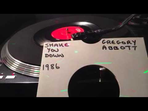 Gregory Abbott - Shake You Down From 1986  ( Vinyl 45 ) .