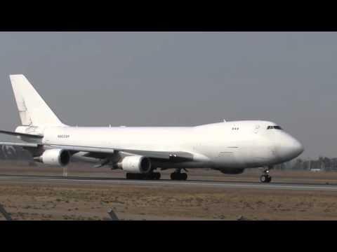 B747-400F rare Centurion Air Cargo takeoff santiago