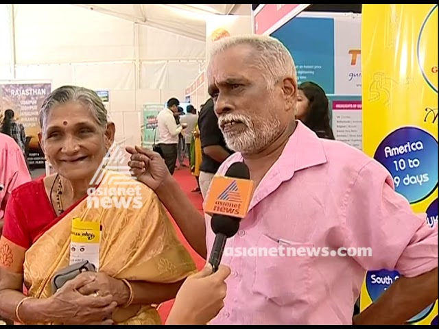 Travel couple Vijayan and Mohana visit Asianet News -Smart Traveller Expo - 2019