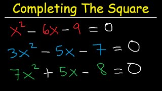 Completing The Square Meтhod and Solving Quadratic Equations - Algebra 2