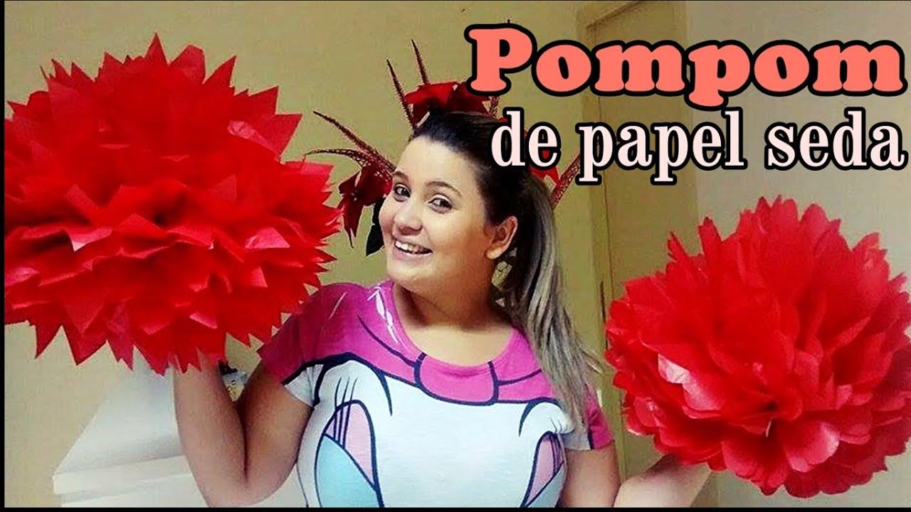 Pompom de Papel Seda Decoraç u00e3o para o Dia das M u00e3es Luana Xavier YouTube