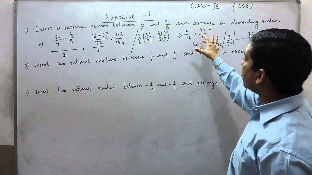 Exercise 1.1 (Q1, Q2, Q3) Solution for Class 9th Understanding ICSE ...